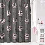 Bone Collector Shower Curtain, Grey/Pink