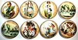 Set of 8 Vintage Alice in Wonderland Dresser Drawer Knobs