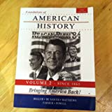 img - for Foundations of American History (Bringing America Back) book / textbook / text book