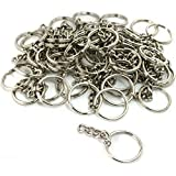 1 X 50 Key Chain Craft Wallet Nickel Plated Findings 28mm New