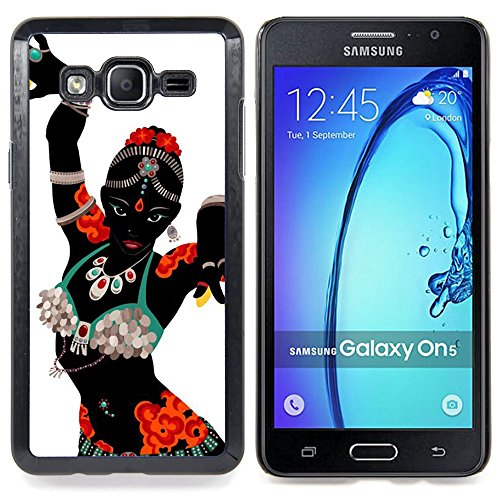 [Stuss Case / Hard Protective Case Cover - Indian Dance Woman Costume Attire Art - Samsung Galaxy On5] (Dance Fantastic Costumes)