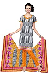 HIFI Ethnicwear Women's Dress Material(HIFI ALIYA2903_Grey_Free Size)