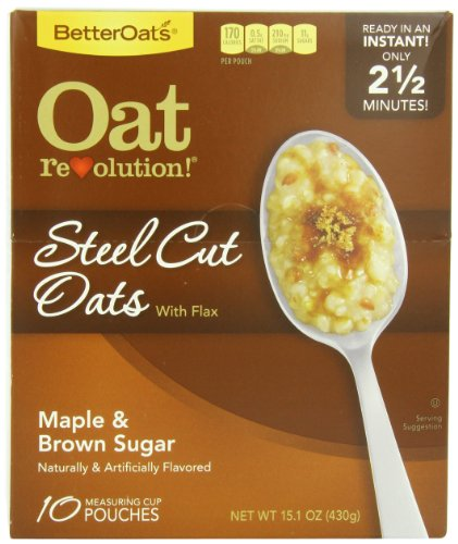 Better Oats Oat Revolution Steel Cut, Maple And Brown Sugar, 15.1Oz (Pack Of 6)