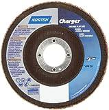 Norton Charger R822 High Performance Abrasive Flap Disc, Type 29, Threaded Hole, Fiberglass Backing, Zirconia Alumina