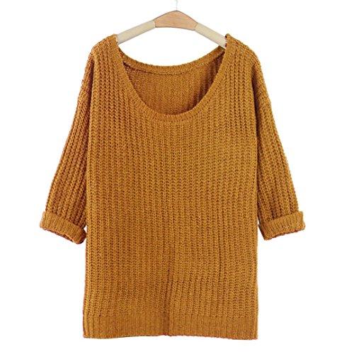 sovradimensionato maglione lavorato a maglia, FEITONG batwing manicotto pullo...