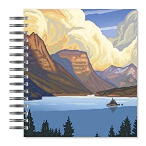 ECOeverywhere St. Mary's Lake Picture Photo Album, 18 Pages, Holds 72 Photos, 7.75 x 8.75 Inches, Multicolored (PA14166)