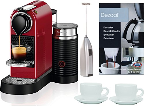 Nespresso Citiz Espresso Machine w/ Milk Reservoir (Cherry Red) Bundle (Nespresso Machine Bundle compare prices)