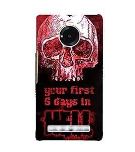 Skull Hell Days 3D Hard Polycarbonate Designer Back Case Cover for YU Yuphoria YU5010