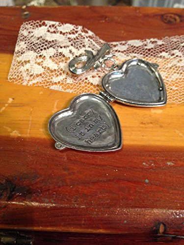 Wedding Bouquet Charm. Memorial Locket. Ashes Locket. i carry your heart with me. Cremation locket