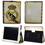 HB HOMEBOAT® Real Madrid Badge Smart Cover PU Leather Case Stand Auto Sleep Wake up Function for Apple iPad 2/iPad 3/iPad 4