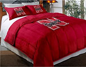 NCAA Nebraska Cornhuskers Twin Full Sized Comforter with Shams by Northwest