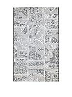 Homemania Alfombra Vetus Negro/Gris 110 x 170 cm