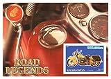 Sellos moto clásica para coleccionistas - Carretera Legends - 1 stamp mint - Desmontado y desquiciado