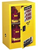 Justrite Sure-Grip EX Safety Cabinet for Flammable Liquids, 1 Manual Door, Steel, Yellow