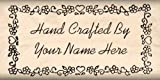 Custom Made & Personalized Hand Crafted By Rubber Stamp 1 Inch X 2 Inches