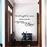 Quote It -The Strength of a Nation Derives From Home Vinyl Wall Decals Quotes