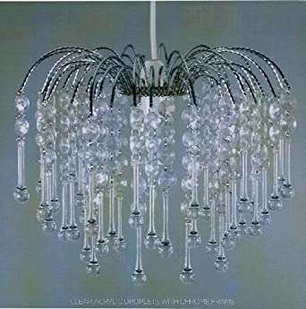 Lightmode Teardrop Acrylic Droplets with Chrome Frame Ceiling Light Lampshade Clear LMB005