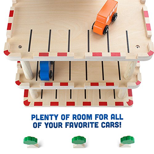 Wooden Wonders Downtown Deluxe Parking Garage with Elevator - Cars and ...