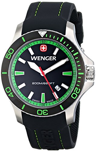 Wenger-Mens-010641108-Sea-Force-3H-Analog-Display-Swiss-Quartz-Black-Watch