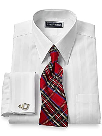 Paul fredrick men 39 s 2 ply cotton straight collar french Straight collar dress shirt