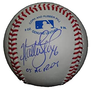 2012 NL All Star Huston Street Autographed Signed ROLB Baseball Featuring 05 AL ROY... by Southwestconnection-Memorabilia