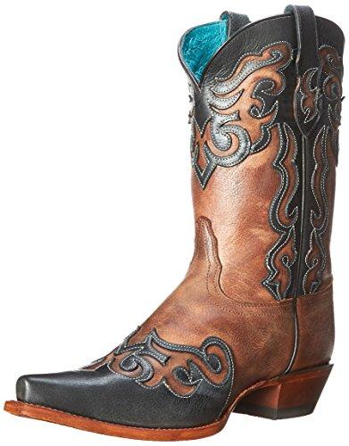 Tony Lama Women's VF6020-Lasso Western Boot,Sienna,6.5 B US