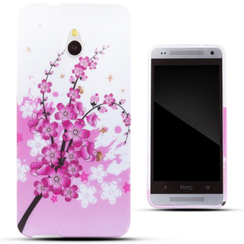 Zooky® Pink Tpu Flower Case / Cover / Shell For Htc One Mini (M4)