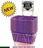 Prestige Line Purple Jumbo Hand Held Shopping Basket Set of 12
