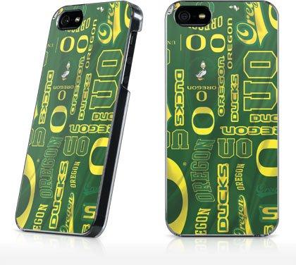 U Of Oregon - Oregon Pattern Print Skin - Iphone 5 & 5S - Lenu Case