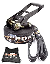 HopOn Slacklines - Powerline - 49 ft (15m) with Free HopON Carrying Bag