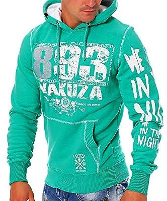Yakuza Herren Pullover Sweatshirt mit Kapuze Hoodie HOB626