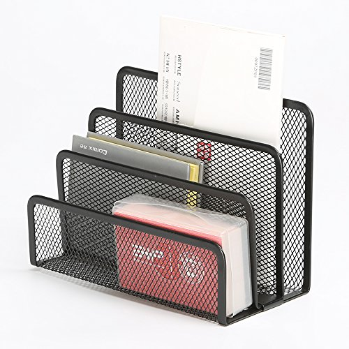 Desktop organizer tray sorter mail letter storage holder - Desk organizer sorter ...