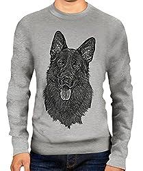 German Shepherd / Alsation Sketch Unisex Printed Sweater Jumper Top - Mens/Womens/Ladies