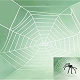 5 Feet Party Cosplay Halloween Decoration Props Product Outfit Product Window Giant Spider Web White
