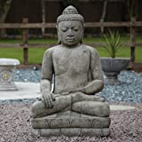 Large Garden Ornaments - Mega Stone Buddha Statue