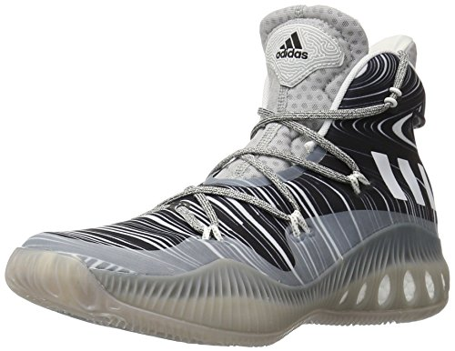 adidas Performance Men's Crazy Explosive Basketball Shoe, Mgh Solid Grey/White/Black 1, 10.5 M US
