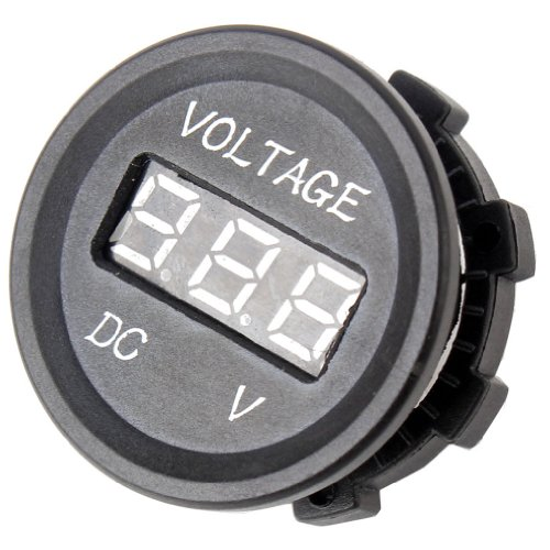WaterProof Marine Car Boat Power Socket Power Outlet Socket Voltmeter DC 12V Accessory For Motorbike Car / Boat / ATV / UTV / Camper / Caravans / Travel Trailer