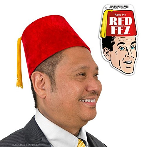 Accoutrements Red Velour Fez Costume