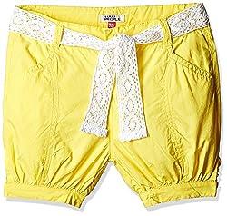 People Girls Shorts (P30602166042812_Yellow_9 - 10 years)