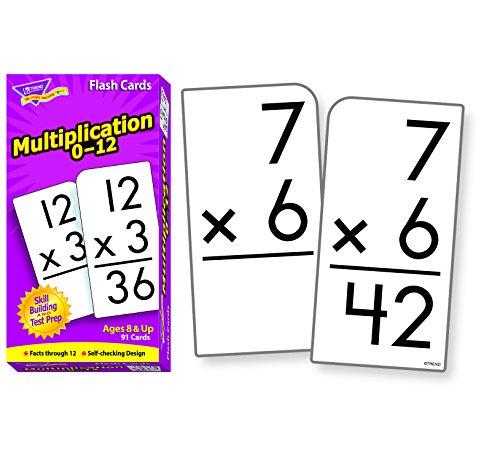 Trend Enterprises Trend Math Flash Cards - Multiplication Flash Cards - Set of 91 Cards (T53105) - 1
