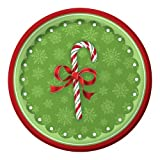Creative Converting 416910B 18 Count Candy Cane Bliss Paper Lunch Plates