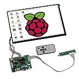 Tontec®10,1 Zoll 1280x800 IPS Raspberry Pi Screen Display LCD TFT Monitor mit Fernbedienung,Treiberplatine,2AV einschließlich Ausgelöst Automatische Umschaltung für Backup-Kamera,HDMI,VGA-Eingängesa