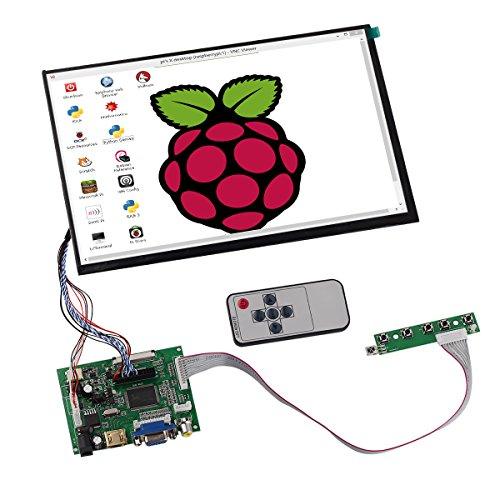 Tontec101-Zoll-1280x800-IPS-Raspberry-Pi-Screen-Display-LCD-TFT-Monitor-mit-FernbedienungTreiberplatine2AV-einschlielich-Ausgelst-Automatische-Umschaltung-fr-Backup-KameraHDMIVGA-Eingngesa