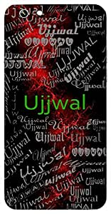 Ujjwal (Bright, Clear) Name & Sign Printed All over customize & Personalized!! Protective back cover for your Smart Phone : Samsung Galaxy S5 / G900I