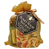 Honey House Naturals 3 Piece Gift Set: Soap, Lotion & Lip Moisturizers, Spring Meadow