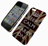 ENGLAND FLAG UNION JACK KEEP CALM AND CARRY ON CASE COVER FOR APPLE I PHONE 5 5G