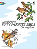 Fifty Favorite Birds Coloring Book (Dover Coloring Book)