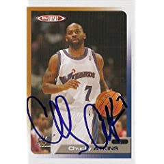 Chucky Atkins Autographed Hand Signed Basketball Card (Washington Wizards) 2006 Topps...