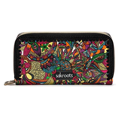 sakroots-artist-circle-double-zip-wallet