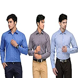 Vicbono Men's Formal Shirt Pack of 3 - 212223-L